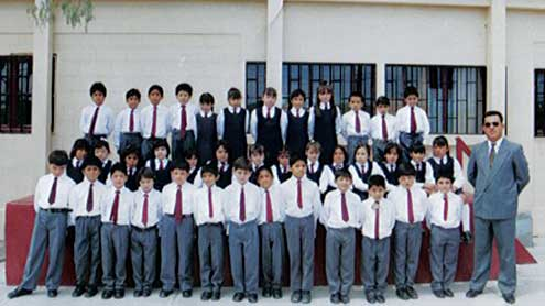 Salvation Army school students in Chile