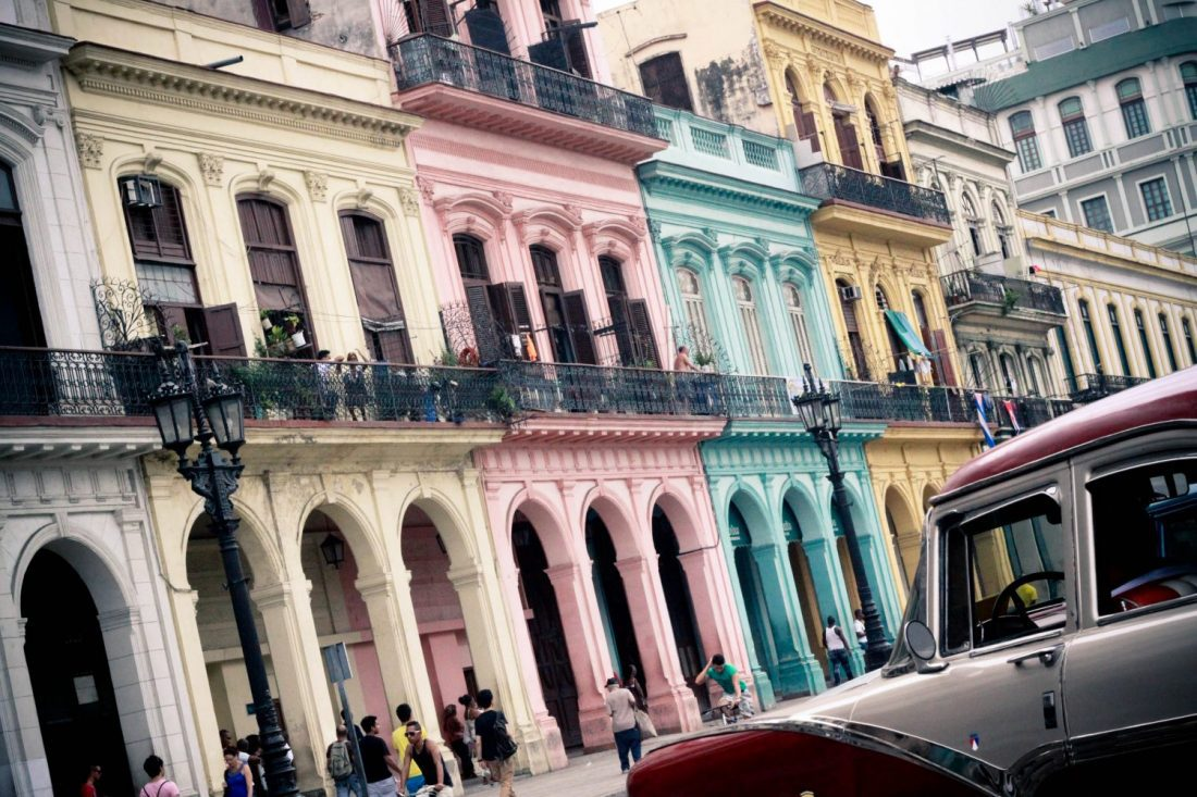 Row of buildings in Cuba
