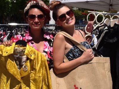 Women holding bags by Salvonista van