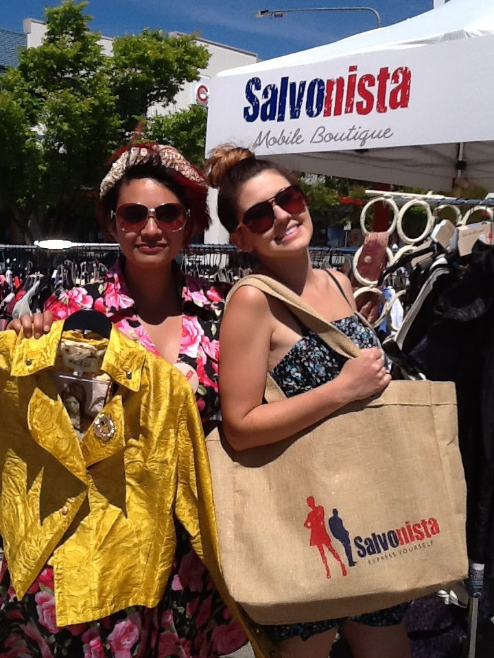 Women holding bags by Salvonista van