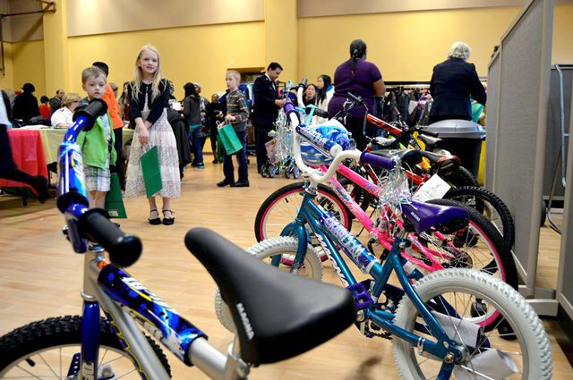 Attendees had the opportunity to win one of six bicycles.