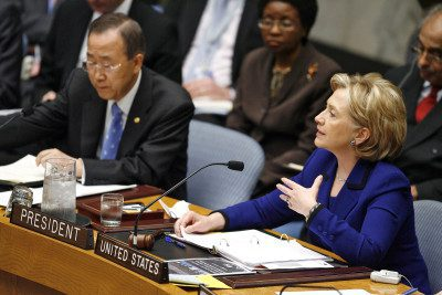 Woman Speaking during security council meeting