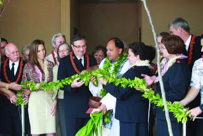 Ribbon cutting in Hawaii at Kroc Center