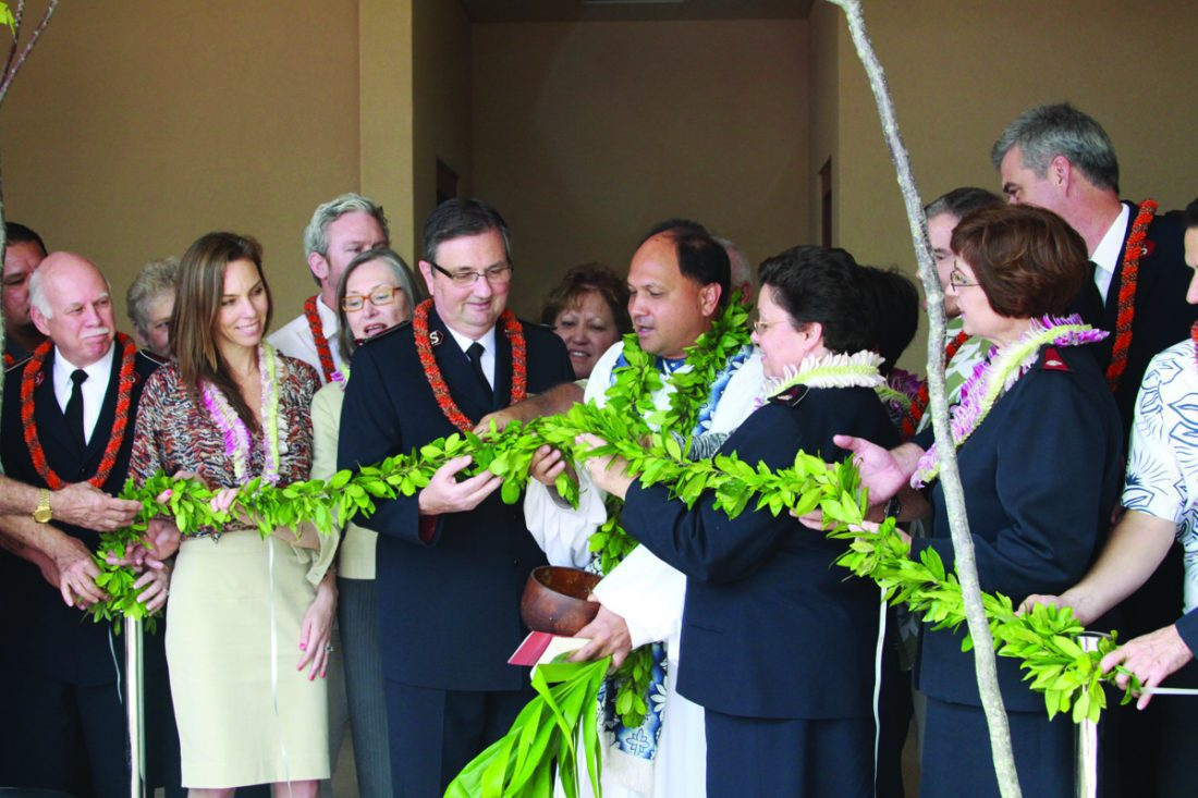 Ribbon cutting in Hawaii at Kroc Center