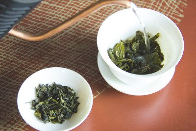 The GoodWorks Coffee & Tea direct trade oolong tea from Yunnan, China