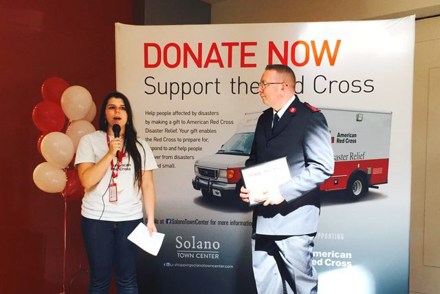 """The American Red Cross named Solano County Coordinator Captain Jonathan Harvey one of its """"everyday heroes."""""""