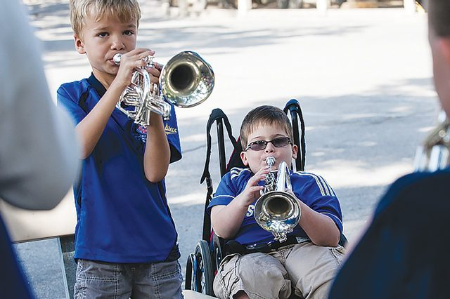 Aidan Larsson and Andrew Sutton at Southern California Divisional Music Camp