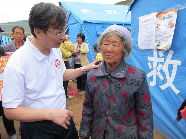 Woman with Salvation Army Officer