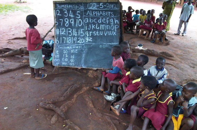 children in outdoor school