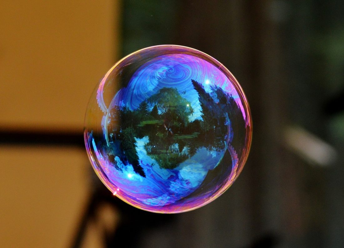bubble floating