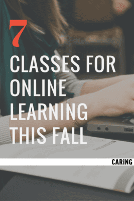 7 classes for online learning this fall.