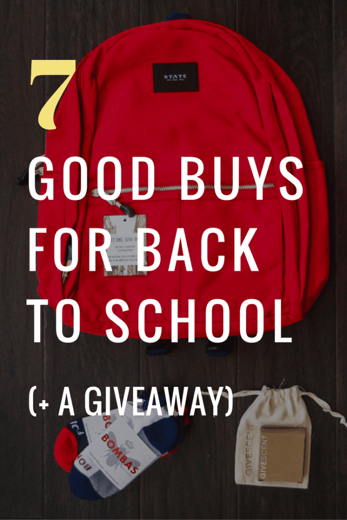 Good buys from conscious companies for back to school time