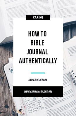 How to Bible journal authentically