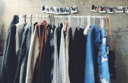 Clothes hung up