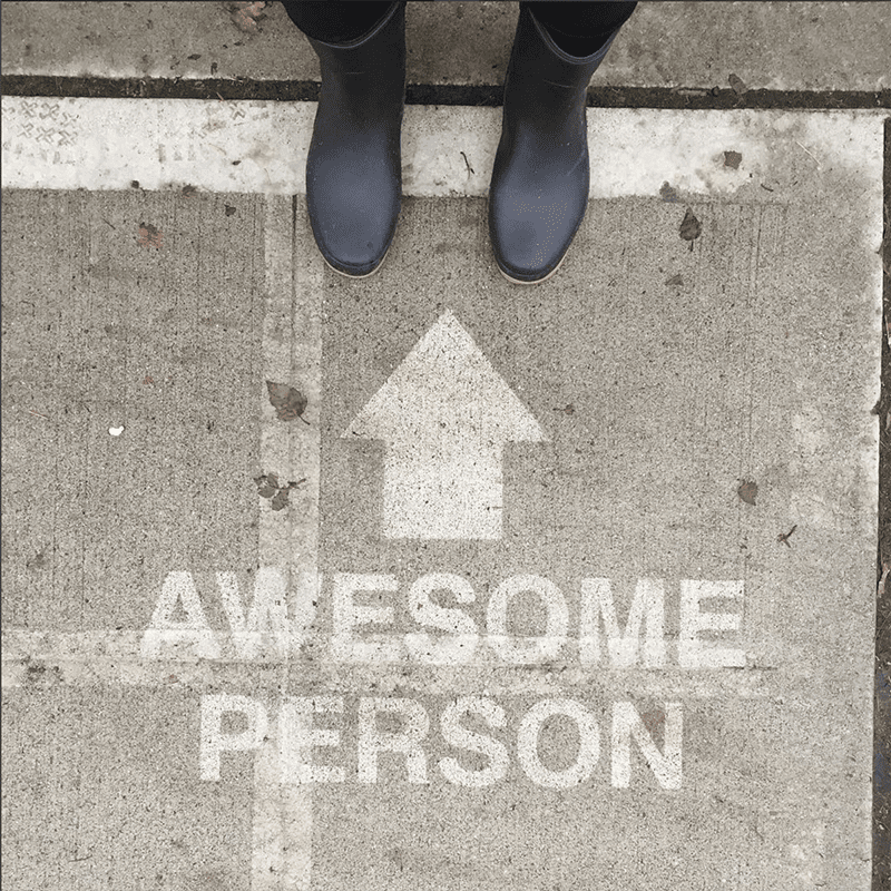 Rainworks painting that says awesome person