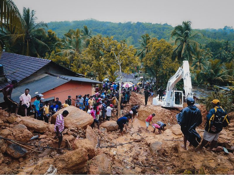 construction for clean water in Sri Lanka