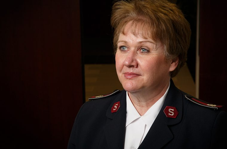 headshot of woman in Salvation Army uniform