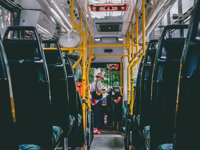 Inside view of bus