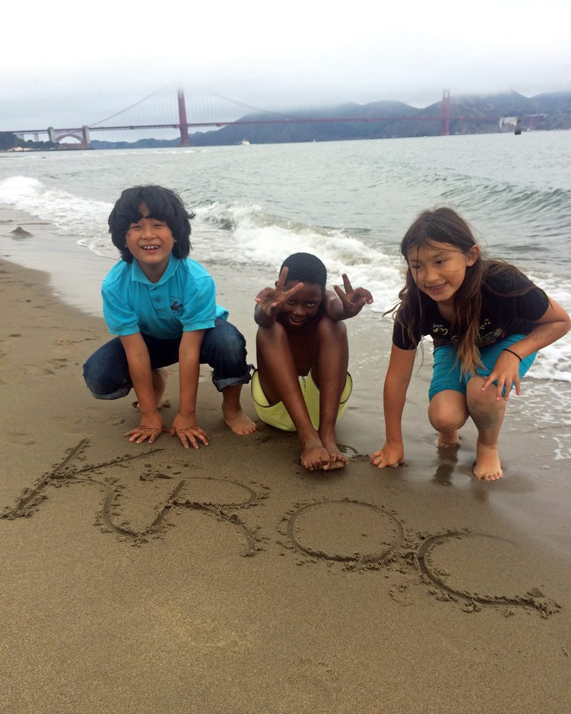 Three San Francisco Kroc Center Campers on Beach