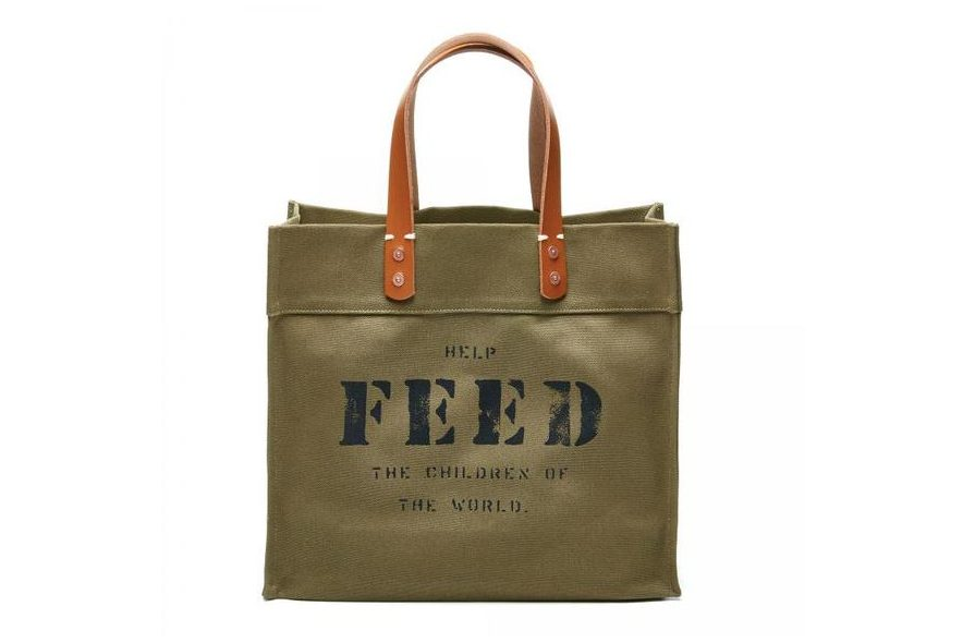 Military Green FEED Bag with Slogan