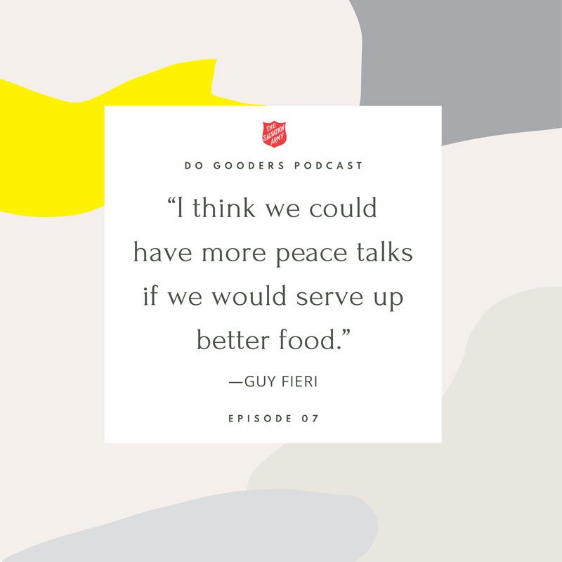 Peace Talks and Food Quote Guy Fieri