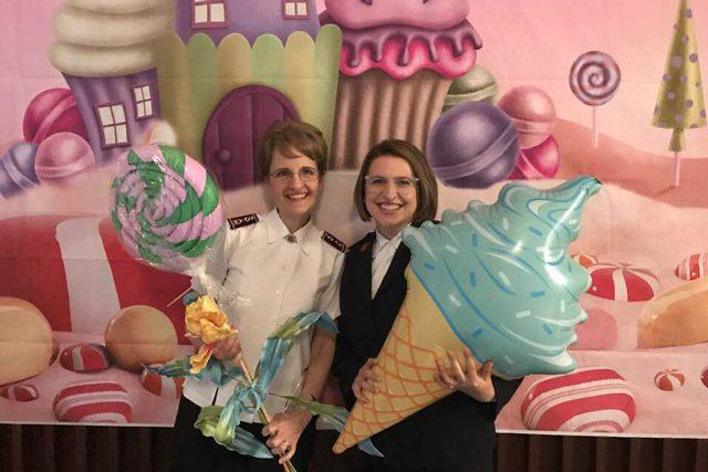 Jolene Hodder and officer