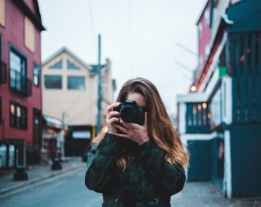 Taking Photo in Street