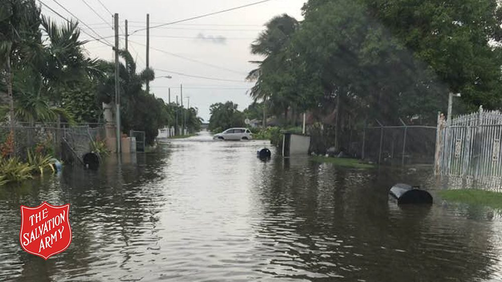 Flooding in the streets of Nassau caused by Hurricane Dorian