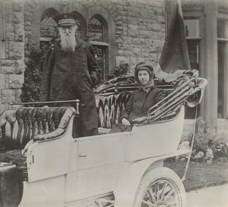 William and Evangeline Booth in car