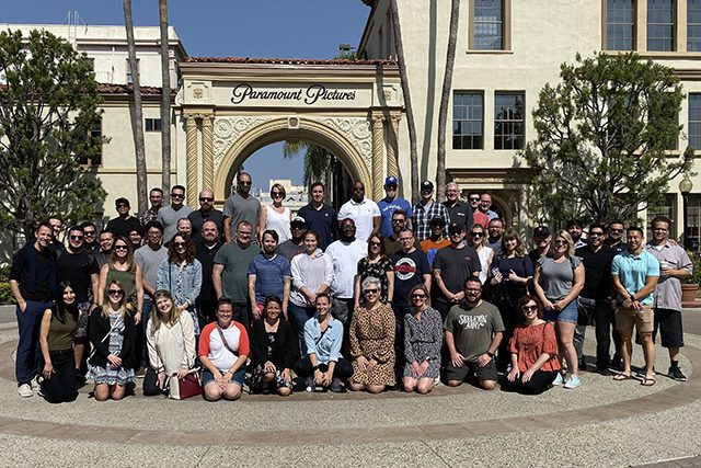 Group in front of Paramount Studios