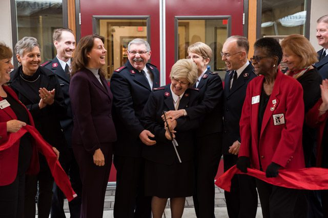 Ribbon Cutting at Salvation Army in Vancouver Ribbon Cutting