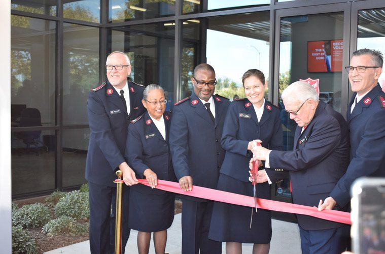 Ribbon Cutting At El Cajon Red Shield Center