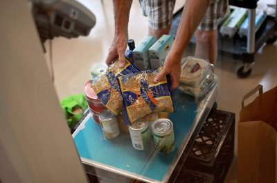 Food at Salvation Army Food Pantry