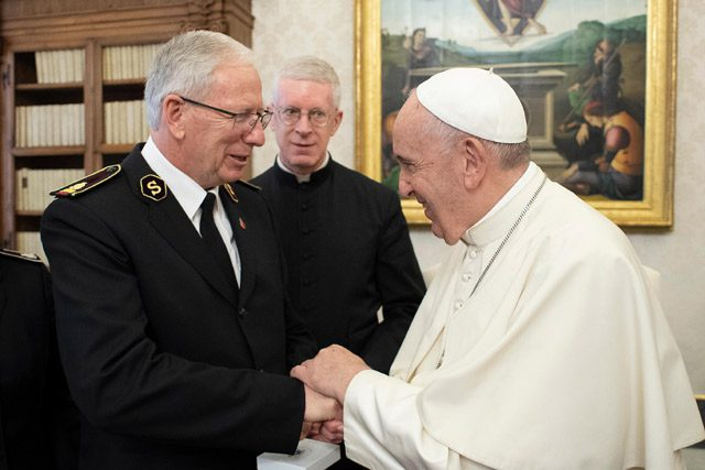 General Brian Peddle and Pope Francis