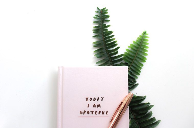 """Notebook with """"Today I am Thankful"""" written on it"""