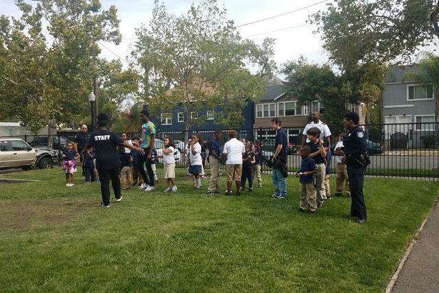 Sacramento PD and Chaperones with Children