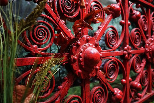 Close up of gate at Strawberry Field
