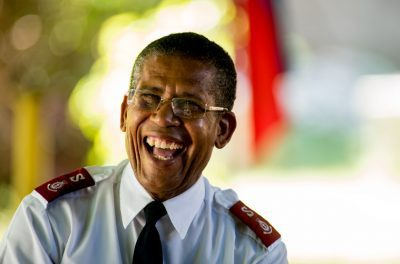 Salvation Army Officer smiling