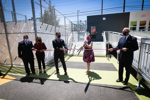 Ribbon cutting at Van Nuys Shelter