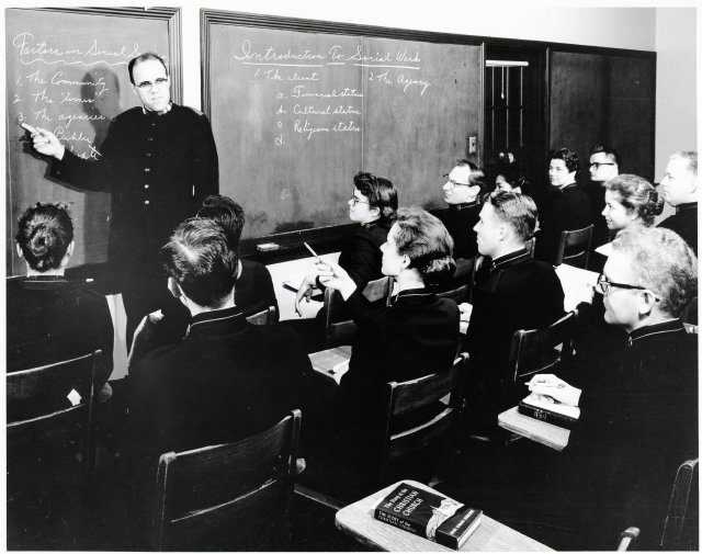 Salvation Army officer teaching cadets